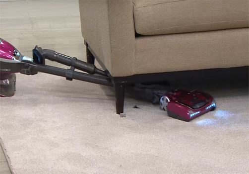 Shark Rocket Deluxe Pro Cleaning under sofa