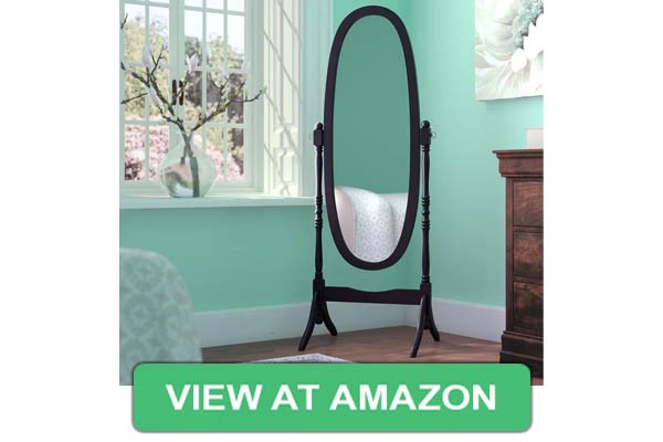Roundhill Traditional Style Wood Cheval Floor Mirror
