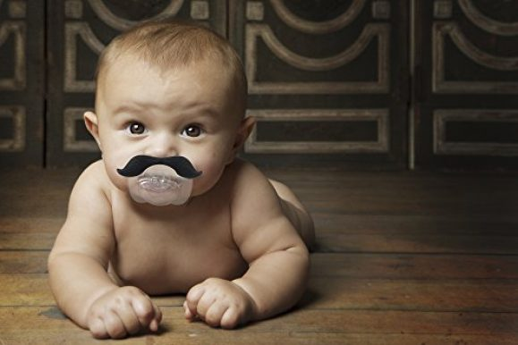Funny Baby Pacifier Mustache Fake Nipple For Babies and Toddlers